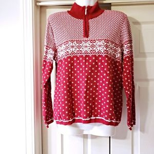 NWOT CHRISTOPHER & BANKS SNOWFLAKE SWEATER SIZE M